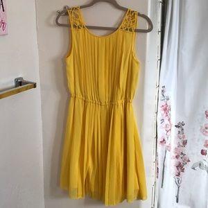 Bright Yellow Jessica Simpson Sun Dress